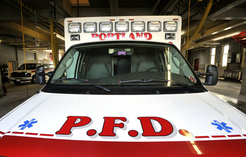 One of the Portland Fire Department's Medcu trucks stands at the ready at the Central Fire Station on Congress Street last week. Fire Chief Jerome LaMoria, who stepped into the role early this month, says he'd like to see the city bolster its Emergency Medical Services capabilities.