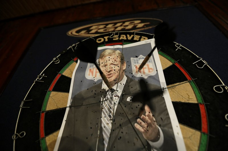 """In at least one New Orleans tavern, fans make it a point to express their displeasure over Roger Goodell for sanctions he levied against their team for """"bountygate."""""""