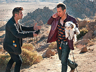 """Colin Farrell, left, and Sam Rockwell in """"Seven Psychopaths."""""""