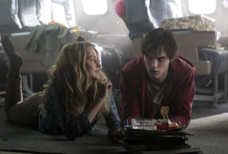 """Teresa Palmer, a live human, and Nicholas Hault, a dead one, build an unlikely relationship in """"Warm Bodies,"""" a touching twist on star-crossed lovers."""