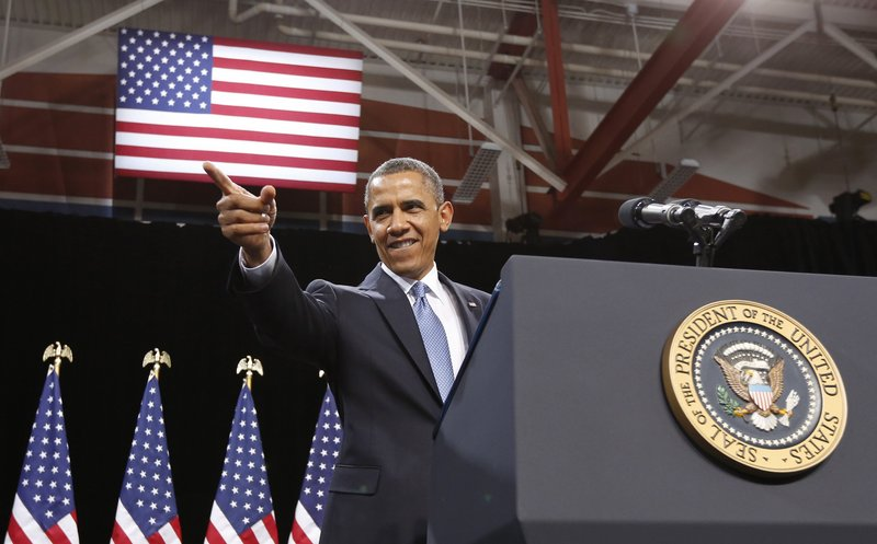 President Obama talks about immigration reform at Del Sol High School in Las Vegas on Tuesday.