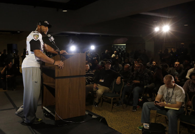 """Ray Lewis told the media at the Super Bowl on Wednesday that he never used deer-antler spray, and called the situation a """"joke'' and a """"trick of the devil."""""""