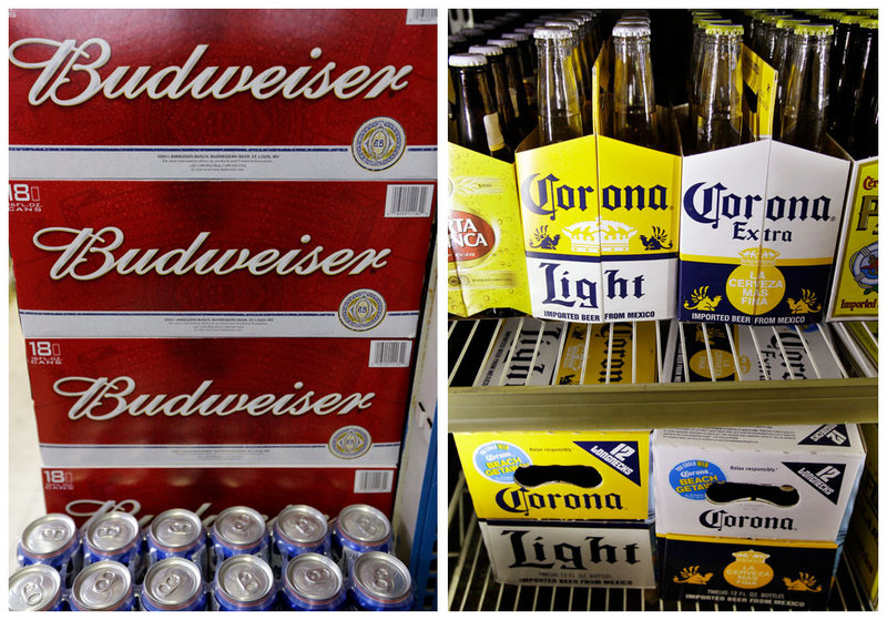Anheuser-Busch InBev, the brewer of Budweiser, and Grupo Modelo, which makes Corona, control 46 percent of annual U.S. beer sales.
