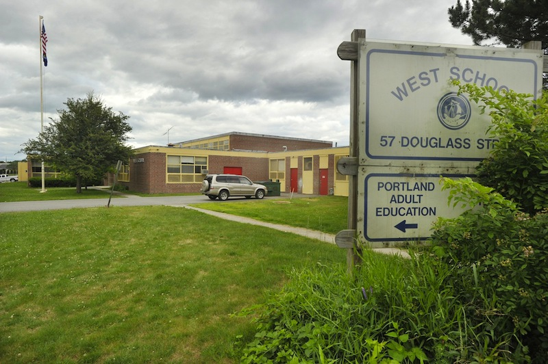 In this 2011 file photo, the West School on Douglass Street in Portland.