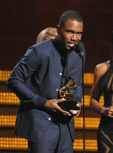 Frank Ocean accepts the best urban contemporary album award for