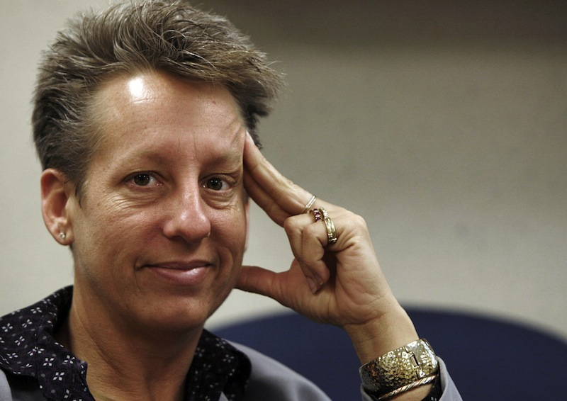 In this Jan. 2010 file photo Maine State Prison Warden, Patricia Barnhart, responds to questions during an interview in her office in Warren, Maine. (AP Photo/Pat Wellenbach)