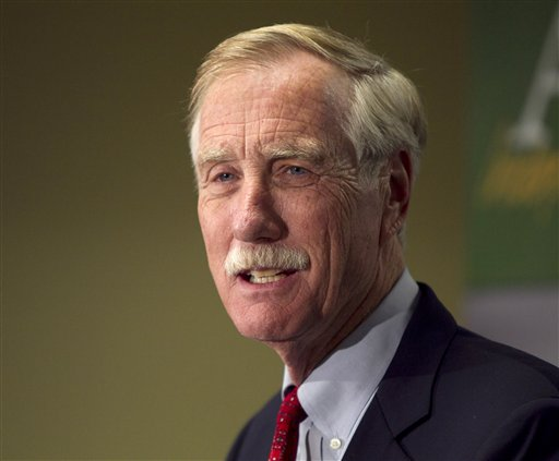 """Sen. Angus King: """"I understand that you can't have co-commanders in chief, but having the executive be the prosecutor, the judge, the jury and the executioner all in one is very contrary to the traditions and the laws of this country."""