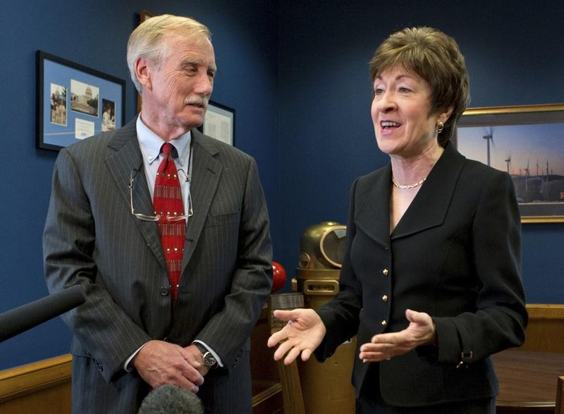 Independent Sen. Angus King and Republican Sen. Susan Collins
