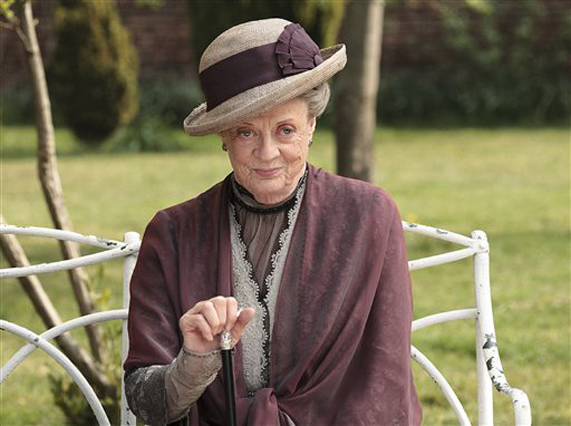 """Maggie Smith, who plays Dowager Countess Grantham, in """"Downton Abbey,"""" can't be accused of being self-absorbed – she hasn't seen the show."""