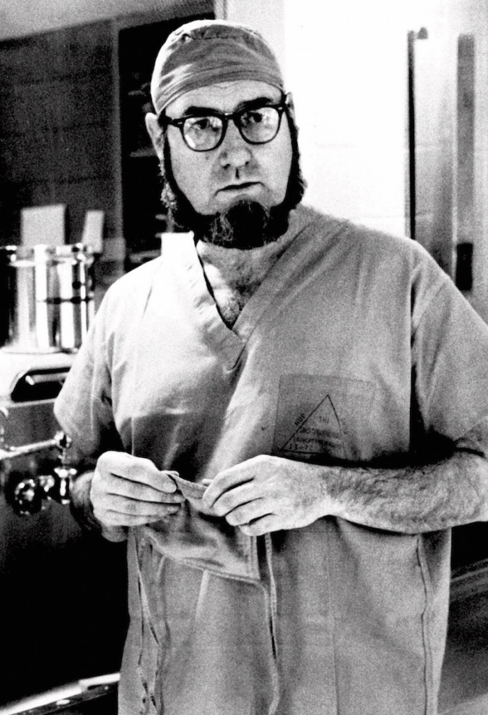 In this Sept. 19, 1974 file photo, Dr. C. Everett Koop, surgeon-in-chief at Children's Hospital in Philadelphia, talks about surgery that separated 13-month-old conjoined twins, Clara and Alta Rodriguez, at the hospital. Koop, who went on to serve as U.S. surgeon general, raised the profile of the office by riveting America's attention on the then-emerging disease known as AIDS and by railing against smoking. Koop died Monday, Feb. 25, 2013, in Hanover, N.H. He was 96. (AP Photo/William G. Ingram, File)
