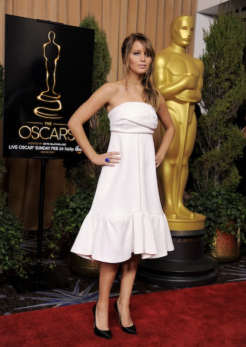 Jennifer Lawrence, nominated for best actress in a leading role for