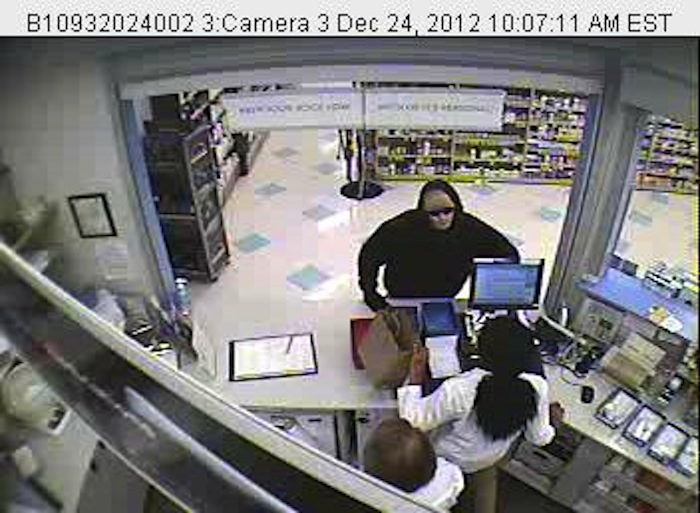 Video image of the suspect in the Christmas Eve Rite Aid robbery in Yarmouth.
