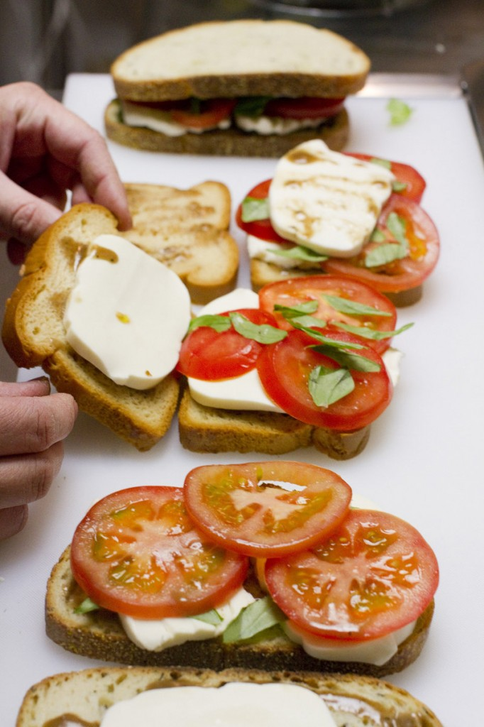 The Caprese sandwich at Dahlia's Delights includes fresh mozzerella, tomatoes, basil and a balsamic drizzle.