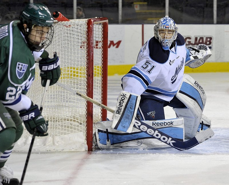 Martin Ouellette wasn't Maine's starting netminder at the start of the season, but since taking over for Dan Sullivan, he's kept the Black Bears in playoff contention.