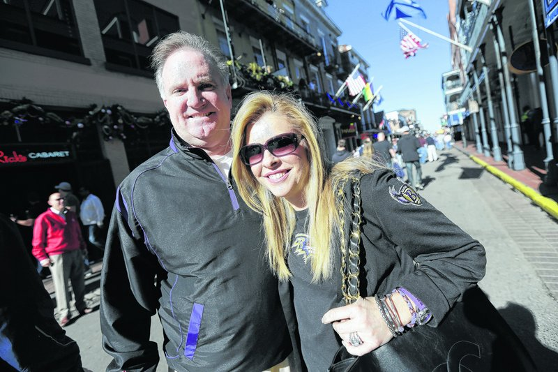 "Sean and Leigh Anne Tuohy, adoptive parents of Baltimore Ravens offensive lineman Michael Oher, are in New Orleans for the Super Bowl. They were depicted in the movie ""The Blind Side"" and later started a foundation to improve the lives of needy children."
