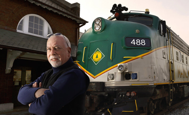 """Gordon Page Sr., director of passenger rail operations, Maine Eastern Railroad: """"It's unfortunate that when the Downeaster has expanded service to Brunswick, we're considering having to reduce service."""""""