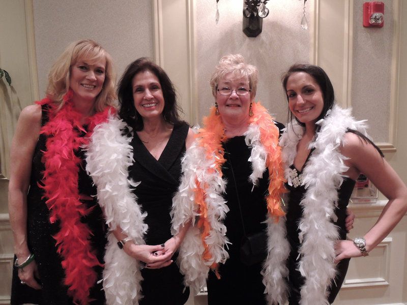 Dancing with the Realtors committee members Karen Jones of Coldwell Banker Residential Brokerage; Rita Yarnold and Judy Kelly of Bay Realty; and Chelsea Locke of Upscale Group Real Estate.