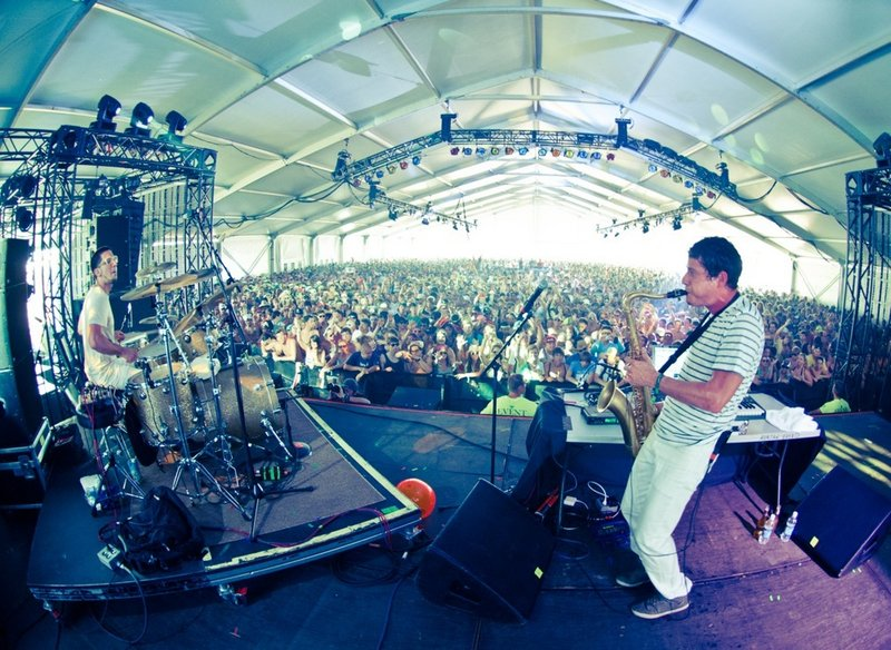 The hip-hop and jazz duo Big Gigantic performs at the State Theatre in Portland on Feb. 14.