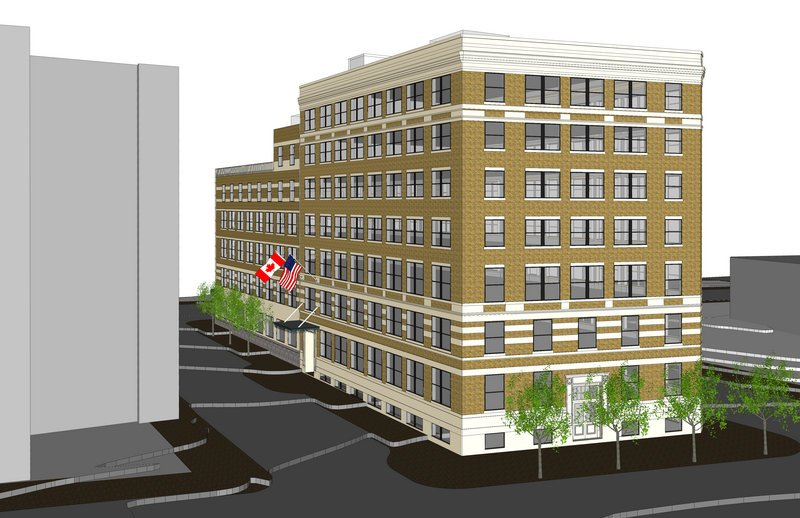 Kevin Bunker, a Portland-based developer, said the former Portland Press Herald building will become The Exchange, a 110-room hotel with an 80-seat restaurant.