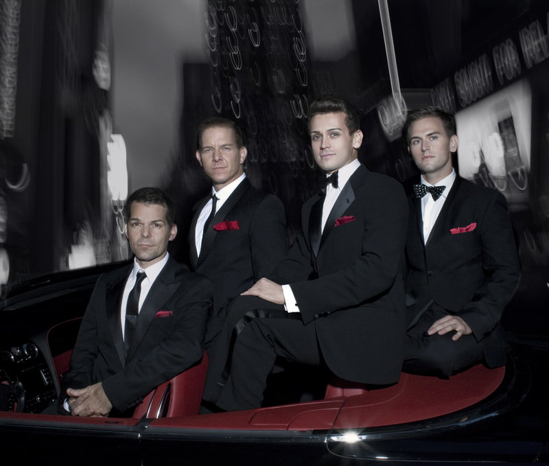 "The Midtown Men, singers from the original cast of the smash Broadway hit ""Jersey Boys,"" perform music of The Four Seasons, The Beatles, The Beach Boys and more at Merrill Auditorium on Thursday."