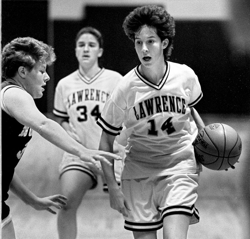 Cindy Blodgett not only led Lawrence to four straight state championships from 1991-94, two of them won in Bangor, but set numerous tournament records that still are standing.