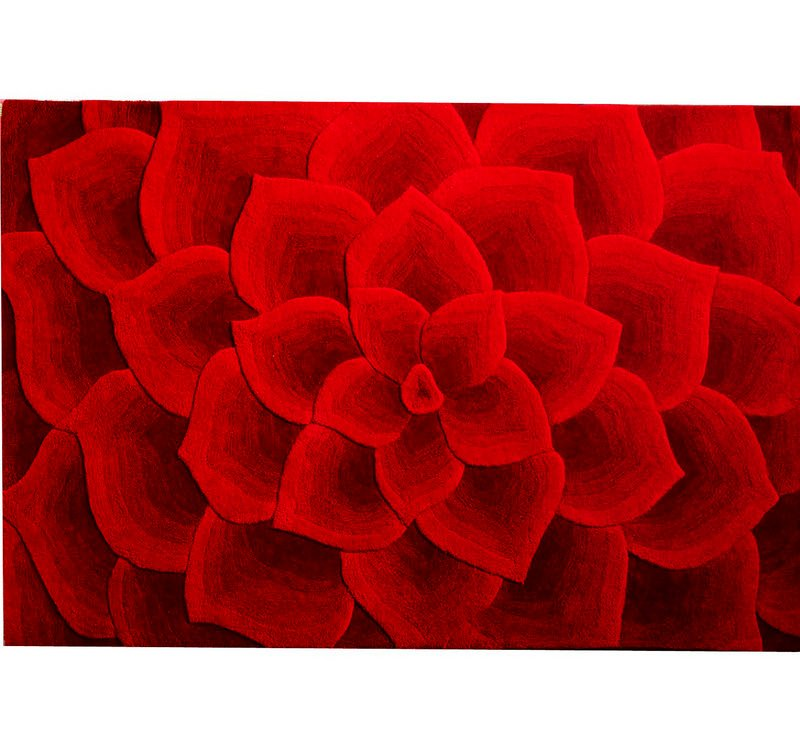 A Rose Tufted Rug is available at Pier 1 Imports.