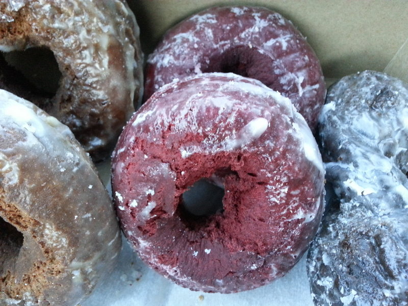 Red velvet doughnuts have joined more traditional varieties on the menu at Tony's Donuts in Portland and South Portland.
