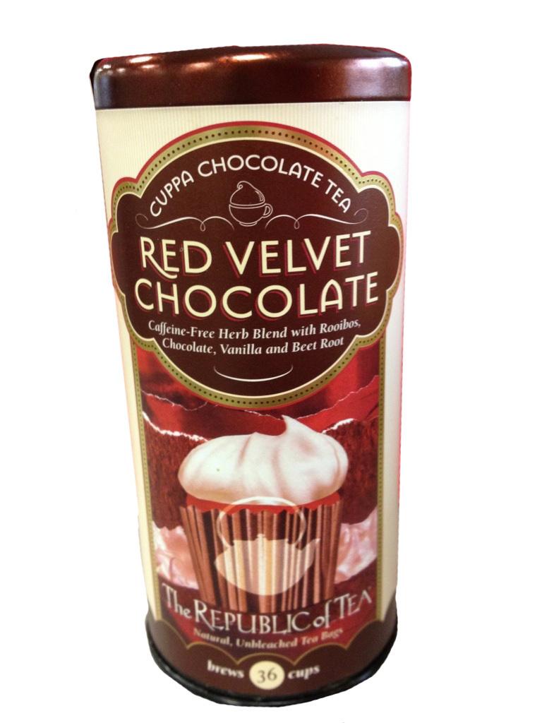 Red Velvet Chocolate Tea from the Republic of Tea.