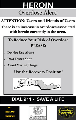 """The city's posters alert users to heroin's dangers and suggest ways to lessen the chances of a fatal overdose. The warnings """"target a group of people for whom the standard anti-drug programs clearly failed,"""" a reader says."""