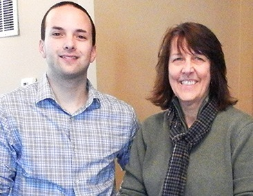Joe Marro, left, an aide to U.S. Rep. Chellie Pingree, hosted Bonny Eagle High School teacher Joanne Lannin during her visit to the nation's capital for the inauguration of President Obama. (See brief for more details.)