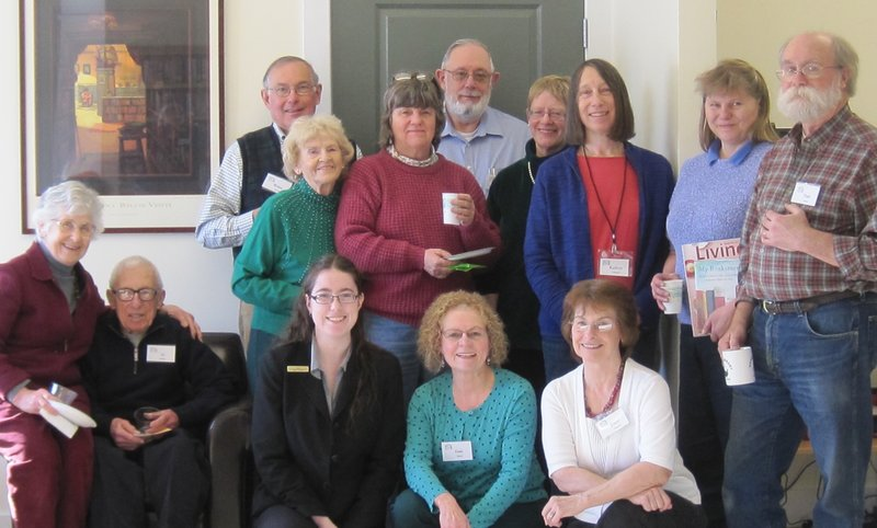 Vose Library in Union held a special recognition event recently to honor volunteers who help to keep the library open and running. Honorees included, from left, rear, Bruce Cobb, Dorothy Dinsmore, Carol Watier, Howard Butler, Jan Cramer, Katherine Adamsky, Rebecca Ayers, President Paul Gaudreau; and front, Margie and Al Margolis, Library Director Sue McClintock, Jane Sigsbee and Joyce Grotton.