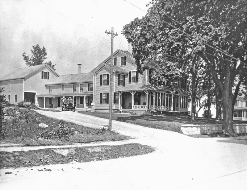 Jameson Tavern house, 115 Main St., in Freeport, taken in the early 1900s.
