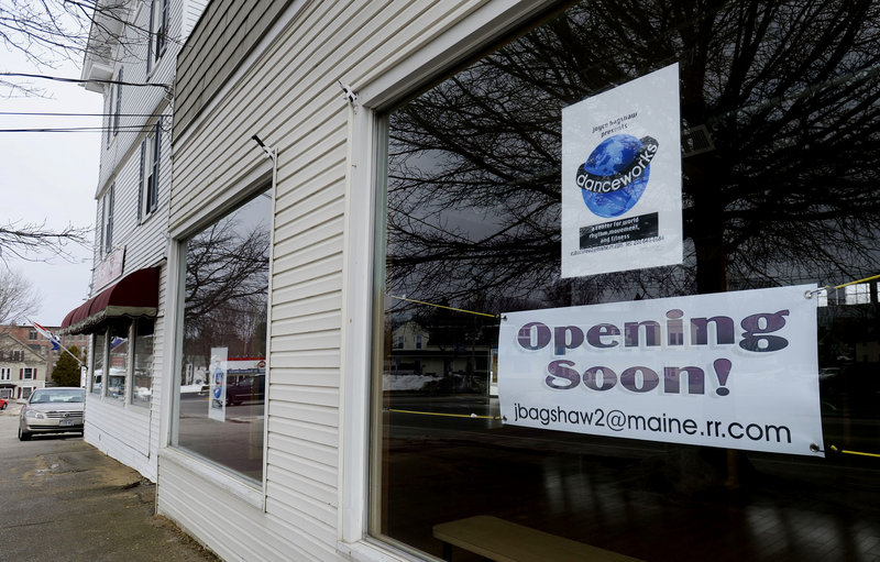 The new operator of the Kennebunk Zumba studio chose the building for its central location.