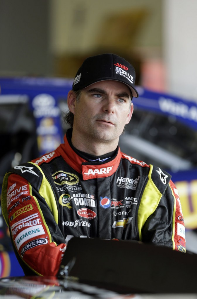 Jeff Gordon was among the veteran drivers who brought his daughter to the speedway to meet with Danica Patrick.