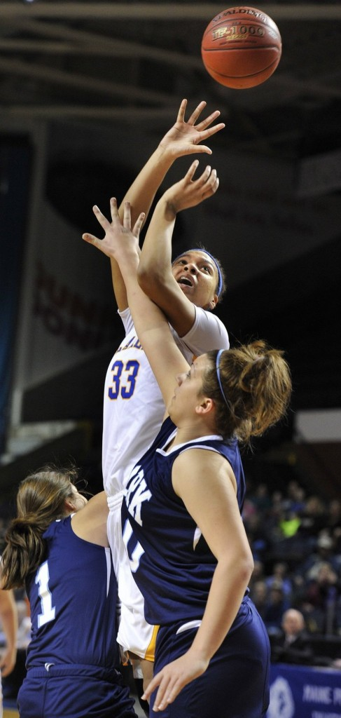 Tiana-Jo Carter of Lake Region will be looking for another dominant game against Presque Isle. Last year in the state final, she had 17 points, 14 rebounds and four blocked shots.