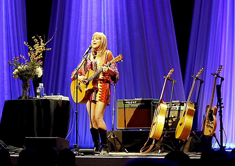 Jewel performs a solo show at Merrill Auditorium in Portland Sunday night. Singer-songwriter Holly Williams, granddaughter of country legend Hank Williams Sr. and daughter of Hank Williams Jr., opened the show.