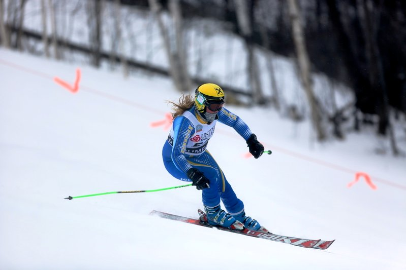 Elise Luce was pleased not only with her performances this winter, but with her Alpine team at Mt. Abram capturing the Class B state championship.