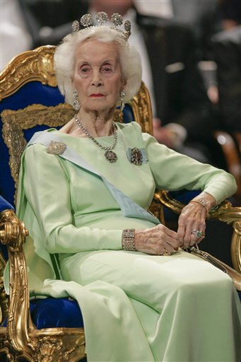Princess Lilian of Sweden is seen in Stockholm in 2005. The Royal Palace says Lilian died Sunday in her home in Stockholm.