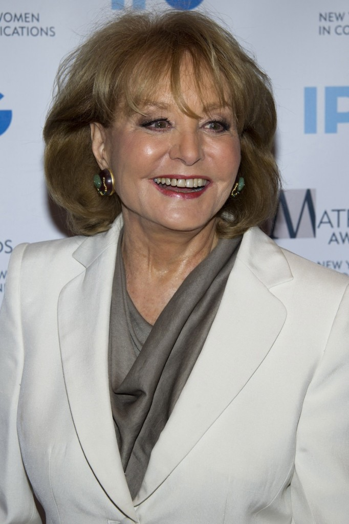 In this April 23, 2012 file photo, Barbara Walters arrives to the Matrix Awards in New York. Walters plans to retire next year, ending a television career that began more than a half century ago and made her a trailblazer in news and daytime TV. Someone who works closely with Walters says the plan is for her to retire in May 2014 after a series of special programs saluting her career. The person was not authorized to discuss the matter publicly and spoke to The Associated Press on Thursday, March 28, 2013 on condition of anonymity. (AP Photo/Charles Sykes)