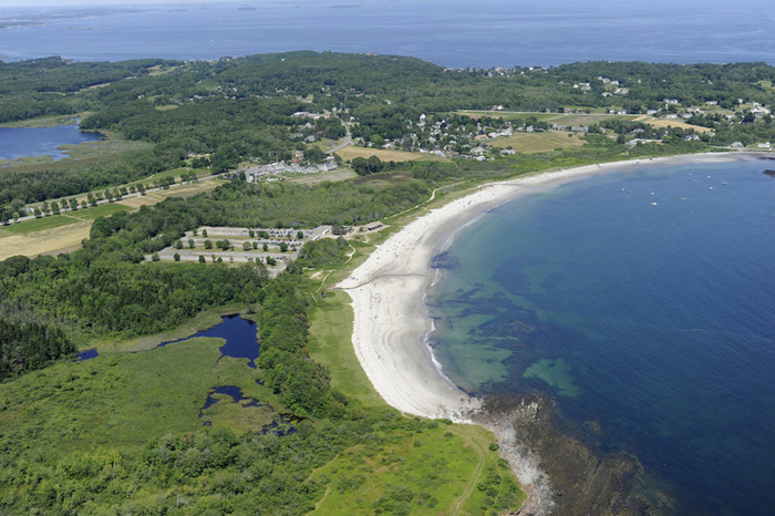 The leased portion of Crescent Beach State Park includes approximately 1,000 feet of beach as well as the entrance road, control station, hiking trails and a portion of the parking lot.