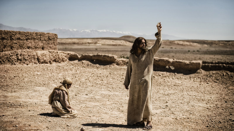 """Diogo Morgado portrays Jesus in a scene from """"The Bible,"""" which premieres Sunday on the History channel."""