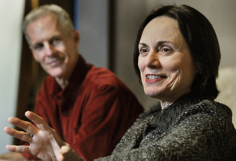 """Actress Alma Cuervo stars in the new Good Theater production of """"4000 Miles."""" At left is the play's director, Stephen Underwood."""