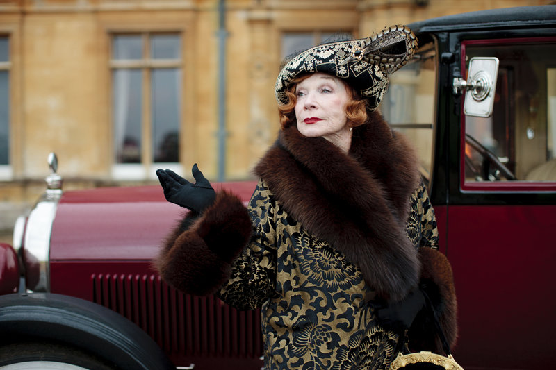 """This undated publicity photo provided by PBS shows Shirley MacLaine as Martha Levinson from the TV series """"Downton Abbey."""""""