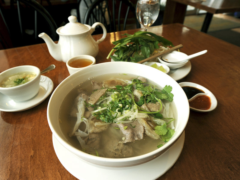 """Jeff Buerhaus, chef/owner of Walter's in Portland, credits the pho from Saigon in Portland with healing his flu-ravaged staff. """"Delicious, and got us back on our feet."""""""