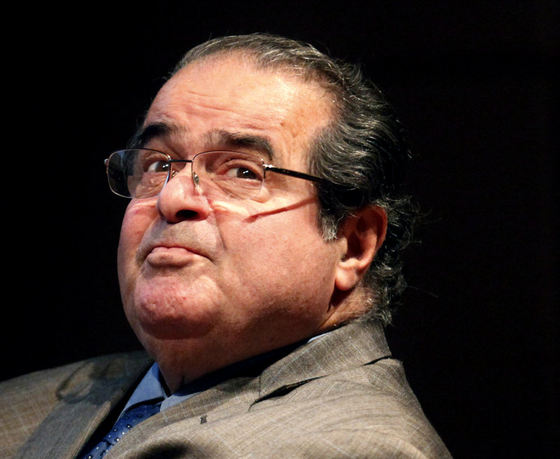 """Justice Antonin Scalia, above, called the Voting Rights Act a """"perpetuation of racial entitlement"""" at a Supreme Court hearing last week. """"This is like complaining that there isn't a White History Month,"""" a reader says."""