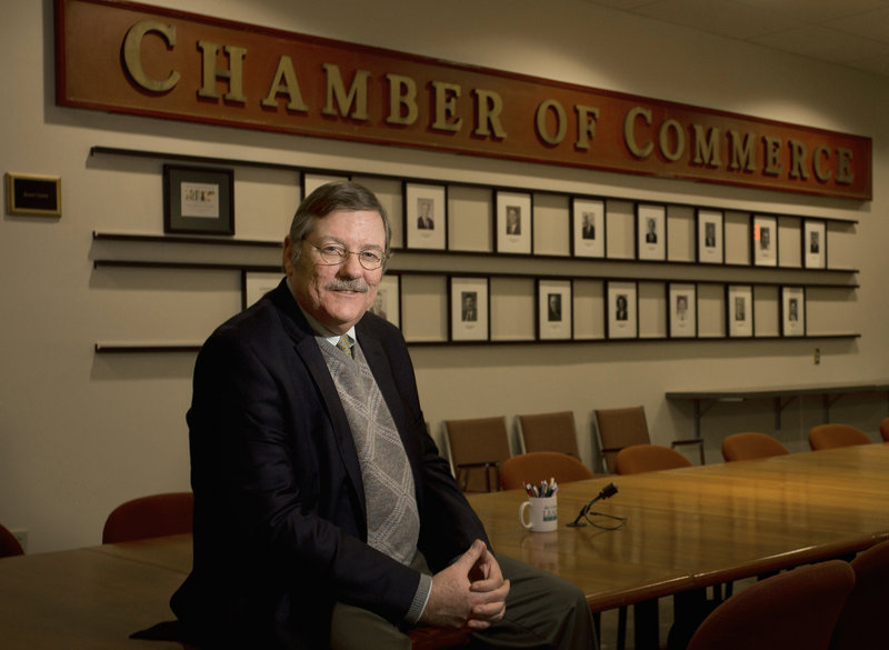 Chris Hall became acting CEO when former head Godfrey Wood resigned late last year. He was senior VP and general counsel of the Maine State Chamber for 17 years.