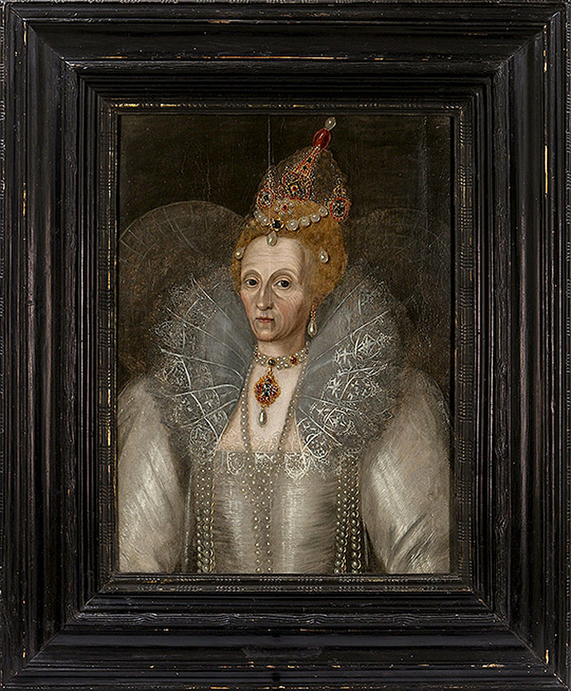 This circa 1592 portrait is one of maybe just two large portraits that show Queen Elizabeth I as an older woman.