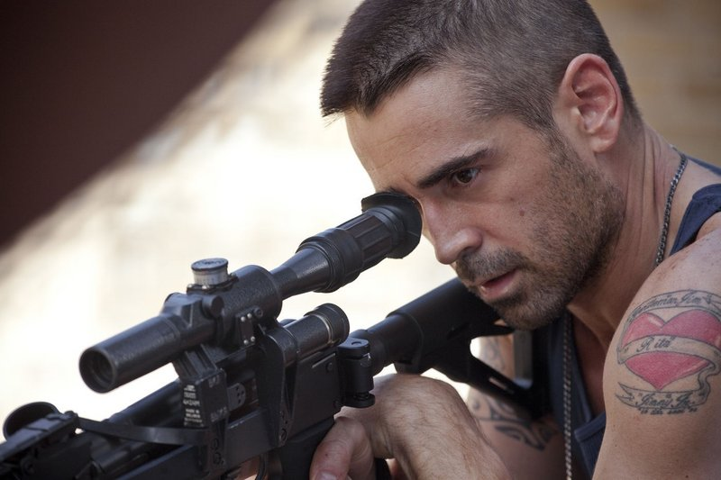 "Colin Farrell is a gangland player bent on vengeance in ""Dead Man Down."""