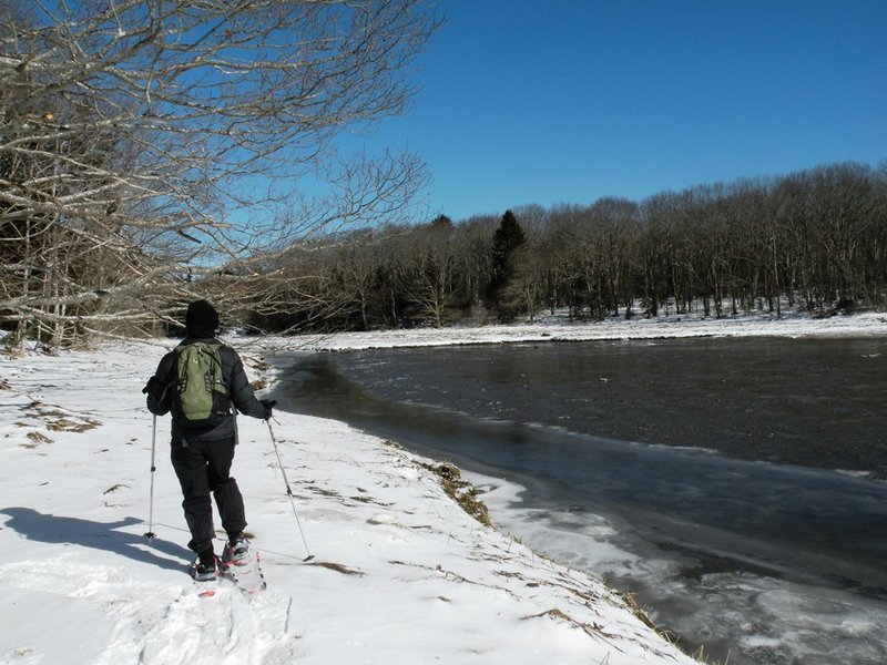 This winter Mother Nature has been generous with snow and at times, sunshine – both of which make snowshoeing a delightful activity at Spirit Pond Preserve.
