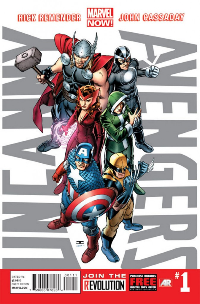 """This image shows the cover of the first issue of """"Uncanny Avengers."""" Below is the first """"Civil War."""" Marvel is making more than 700 first issues available to digital readers starting Sunday for free through the Marvel app and the company's website. After Tuesday, they'll be sold for $1.99 to $3.99 per issue."""